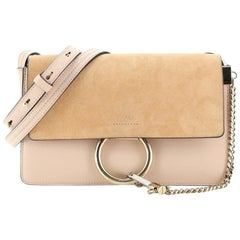 Chloe Faye Shoulder Bag Leather and Suede Small