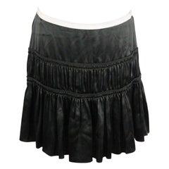 CHLOE Foreste Green Silk TIERED SKIRT Size 40