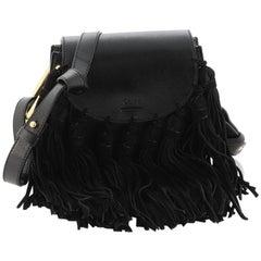 Chloe Fringe Tassel Hudson Bag Leather Mini