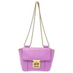 Chloe Fuchsia Leather Small Elsie Shoulder Bag