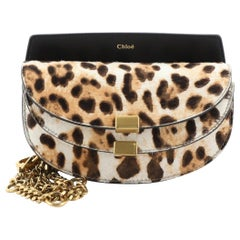 Chloe Georgia Belt Bag Printed Pony Hair