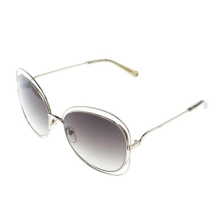 8dd17e4f746f Gray Chloe Gold/Green Gradient CE119S Round Oversized Sunglasses For Sale