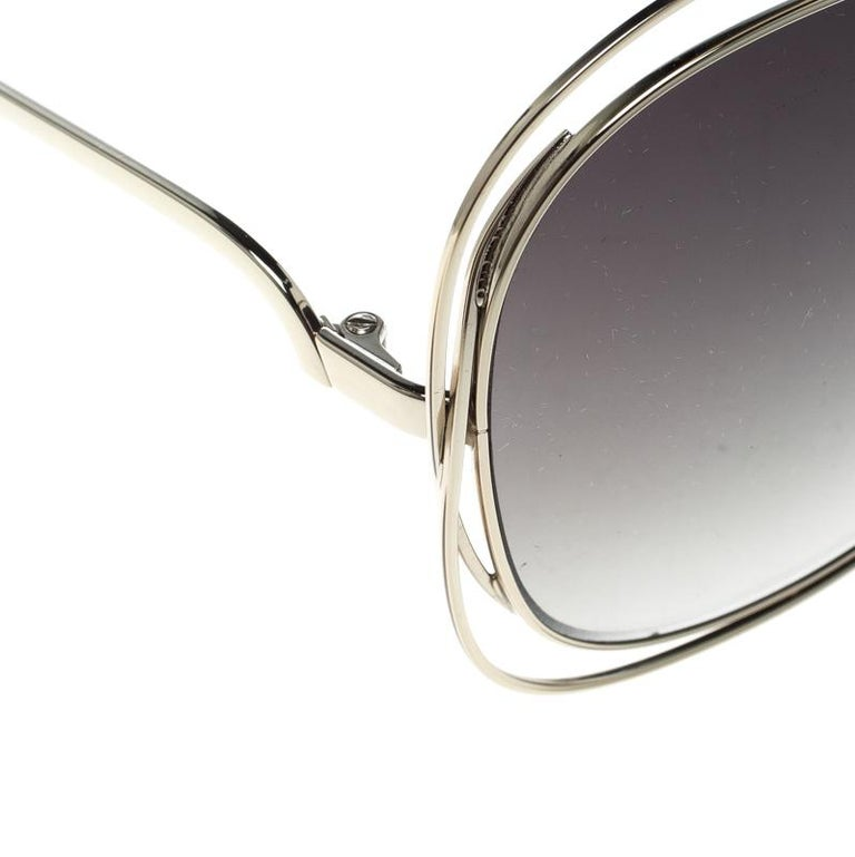 916434467936 Chloe Gold/Green Gradient CE119S Round Oversized Sunglasses For Sale ...