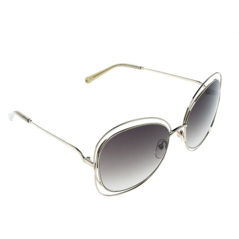 f6e18ca489 Chloe Gold Green Gradient CE119S Round Oversized Sunglasses For Sale ...