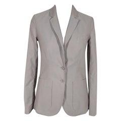 Chloe Gray Striped Cotton Blazer Jacket Size 36 Small