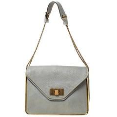 Chloe Grey Leather Sally Medium Shoulder Bag