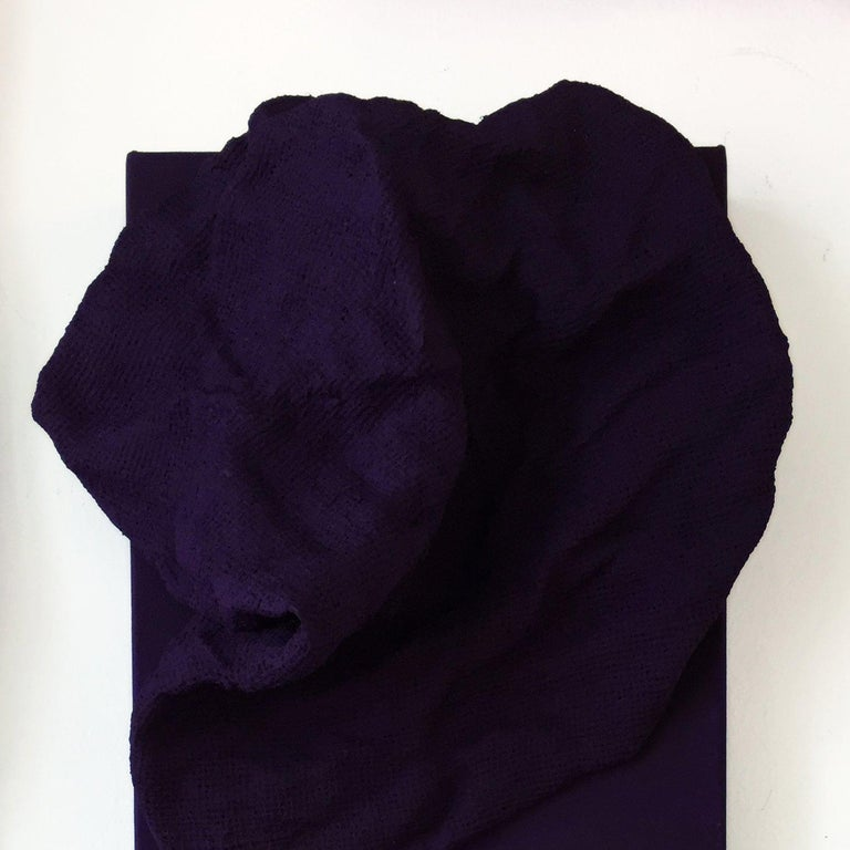 Egyptian Violet Folds - Pair - Contemporary Mixed Media Art by Chloe Hedden