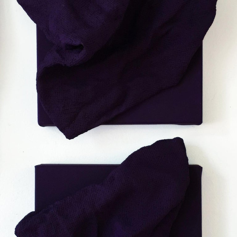 Egyptian Violet Folds - Pair For Sale 1