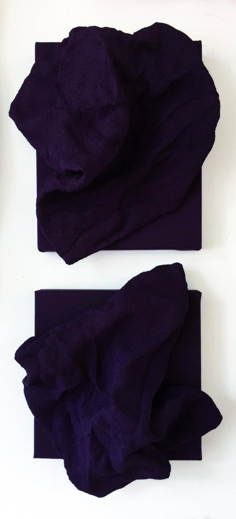 Egyptian Violet Folds - Pair - Mixed Media Art by Chloe Hedden