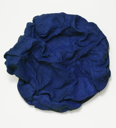 Iris Blue Folds (navy blue, dark blue, hard fabric, contemporary design, textile
