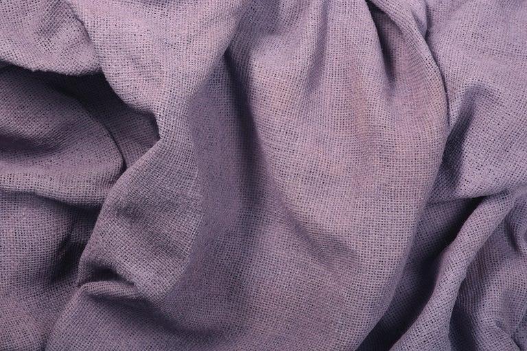Lavender Folds 2 (fabric art, wall sculpture, contemporary design, textile art) - Sculpture by Chloe Hedden