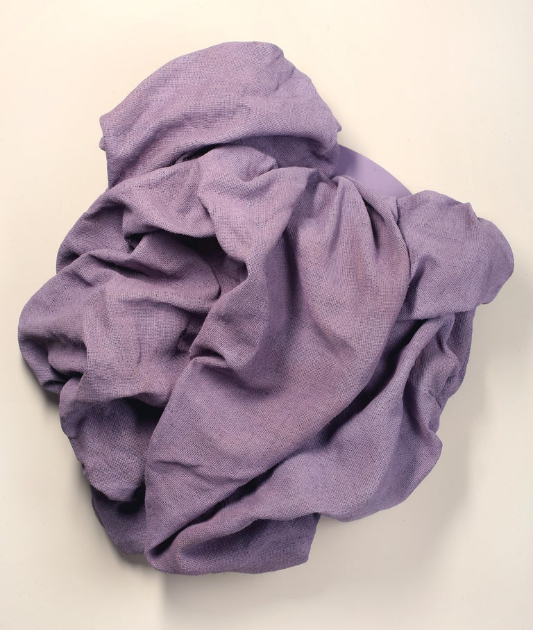 Chloe Hedden Abstract Sculpture - Lavender Folds 2 (fabric art, wall sculpture, contemporary design, textile art)