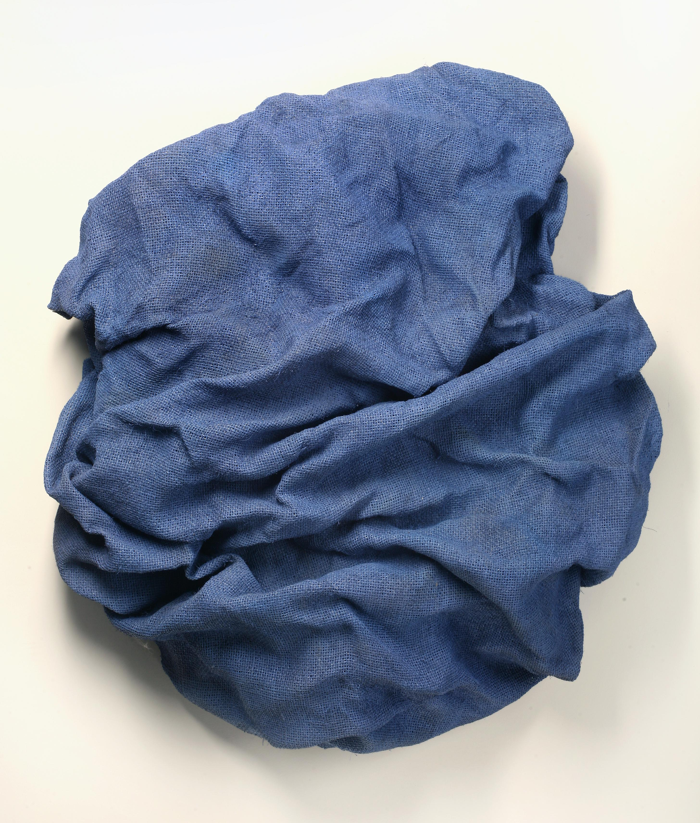 Lilac Folds (fabric art, wall sculpture, contemporary art design, textile arts)