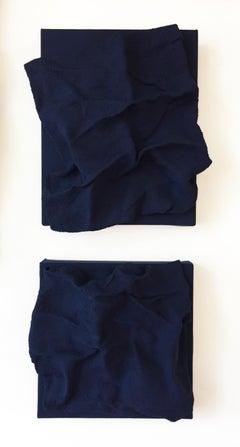 Prussian Blue Folds - Pair