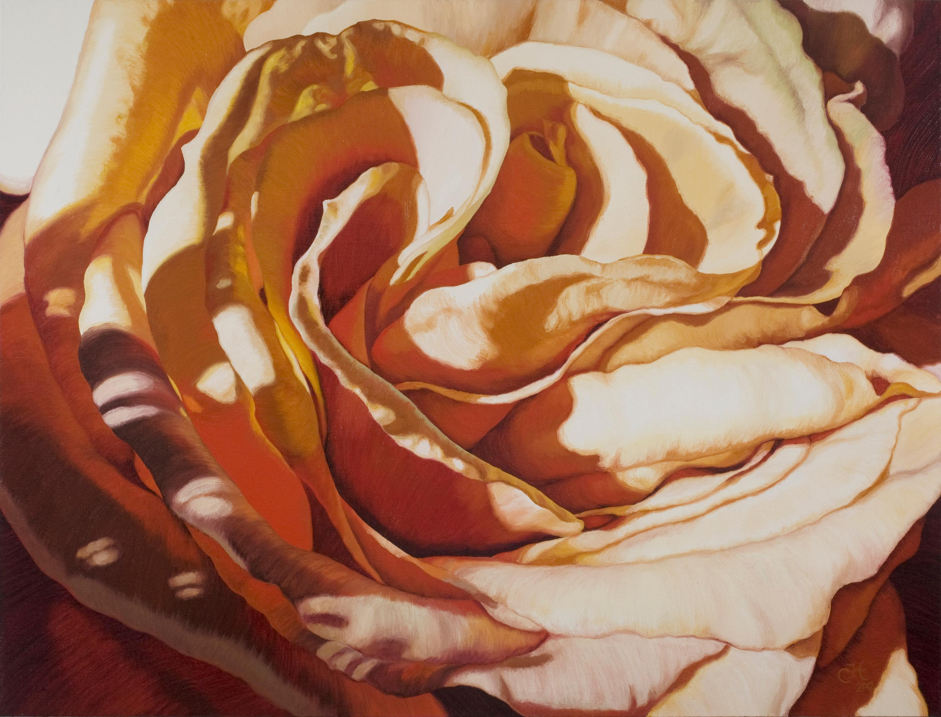 Aletheia (floral painting, realist, pastels, flower, oil painting, canvas)