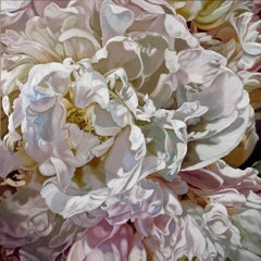 BAHOTAA KARAM (floral painting, realist, pastels, flower, oil painting, canvas)