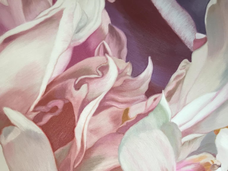 Becky's Peony - Painting by Chloe Hedden