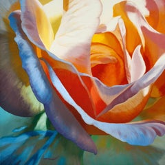 Betty Jane (floral painting, realist, pastels, flower, oil painting, canvas)