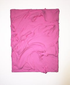 Bubble Gum Pink Excess (impasto thick painting contemporary design vivid)