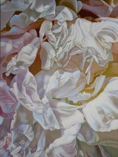 Cherdi Kala 3 (floral painting, realist, pastels, flower, oil painting, canvas)