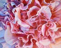 Double Hibiscus (floral painting, realist, pink, flower, oil painting, canvas)