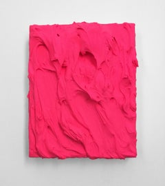 Electric Pink (texture thick painting impasto monochrome pop bold design)
