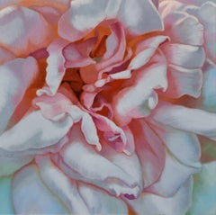 Morning rose (floral realist flower oil painting canvas petals pink)