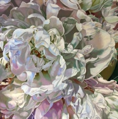 Peony for Emme 2 (floral painting, realist, flower, oil painting, pastel, petals