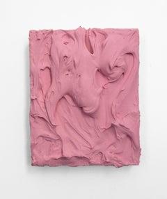 Pink Insulation (texture thick painting impasto monochrome pop bold design)