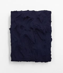 Prussian Blue (texture thick painting impasto monochrome pop bold design)