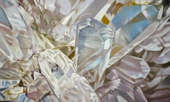 Quartz 1 (oil painting, crystals, contemporary realism, canvas, white, realist)