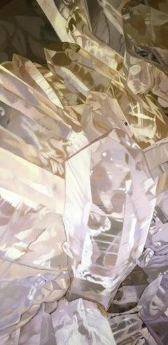 Quartz 2 (minerals painting, realist, pastels, crystals, oil painting, canvas)