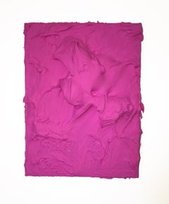 Rasberry Excess (magenta pink impasto thick painting contemporary design vivid)
