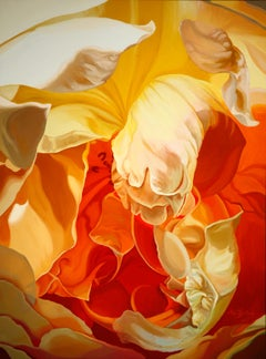 Rose for John (floral painting, realist, yellow rose , flower, oil painting)
