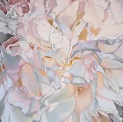 Salt Spring Peony 11 (floral painting realism pastels white flower oil pink)