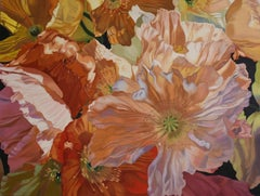 Salt Spring Poppies (floral painting, realist, flowers, oil painting, canvas)