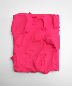 Shocking Pink Excess (impasto texture thick painting monochrome pop bold design)