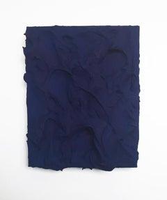 Touareg Blue Excess (impasto texture thick painting monochrome pop bold design)
