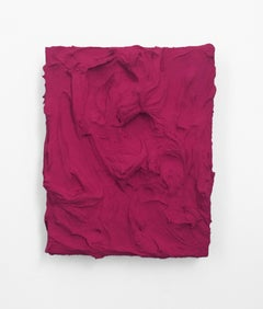 Tyrian Rose (pink texture thick painting impasto monochrome pop bold design)