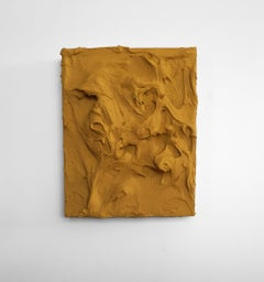 Yellow Ochre Excess 2(impasto texture thick painting monochrome pop bold design)