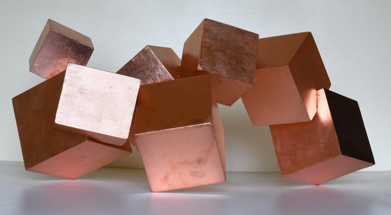 COPPER AND MAHOGANY PYRITE - Abstract Geometric Sculpture by Chloe Hedden