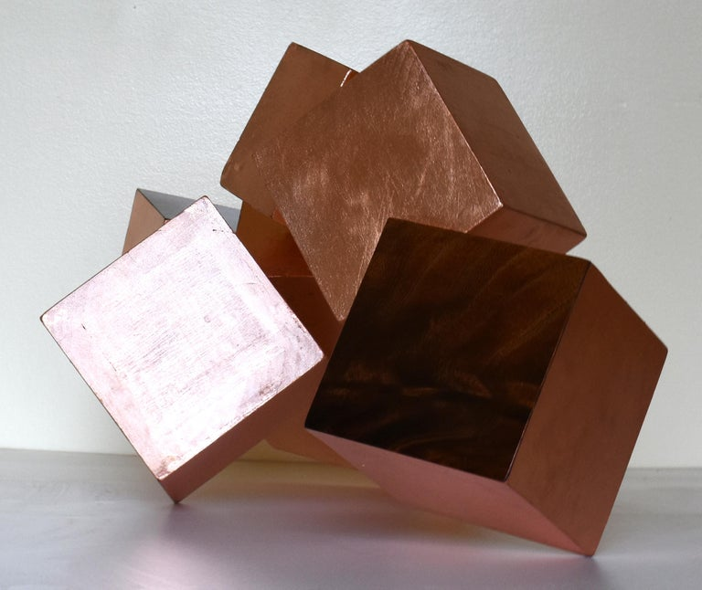 COPPER AND MAHOGANY PYRITE - Brown Abstract Sculpture by Chloe Hedden