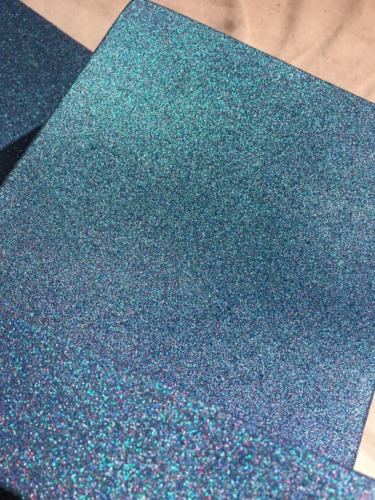 Sapphire Pyrites (cubic, blue, wood art, wall sculpture, contemporary design) For Sale 1