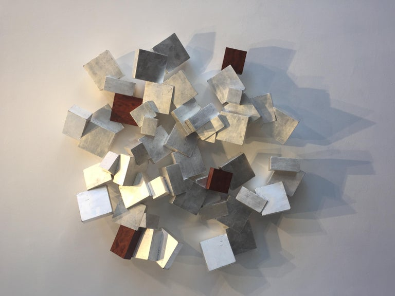 Silver and Bubinga Pyrite - Sculpture by Chloe Hedden
