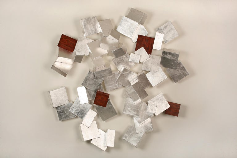 Chloe Hedden Abstract Sculpture - Silver and Bubinga Pyrite