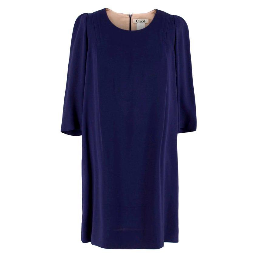 Chloe Indigo Mid-Length Dress - Size US 4