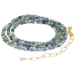 Chloe Kyanite Gold 18 Karat Gemstone Convertible Wrap