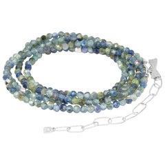 Chloe Kyanite Silver Gemstone Convertible Wrap