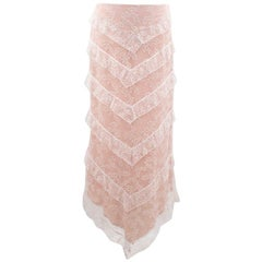 Chloe Lace Skirt with Nude Lining - Size US 4/6