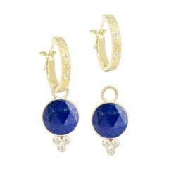 Chloe Lapis 18 Karat Gold Earrings